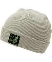 Grenade Max Grey Fold Beanie