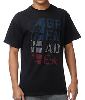 Grenade Stacked Star Black Tee Shirt