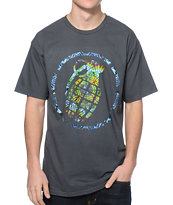 Grenade Trippy Stenz Art Charcoal Tee Shirt