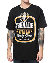 Grenade Viva LA Party Time Black Tee Shirt
