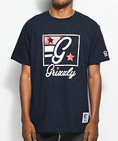 Grizzly  Hardwood Classics Navy T-Shirt