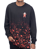 Grizzly Blood Splatter Long Sleeve Black T-Shirt