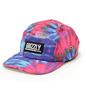 Grizzly Digi Tie Dye 5 Panel Hat
