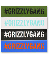 Grizzly Hashtag Grizzly Gang Assorted Sticker