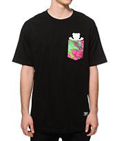 Grizzly Marble Tie Dye Bear Pocket T-Shirt