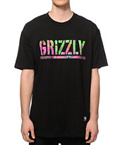 Grizzly Marble Tie Dye Stamp T-Shirt