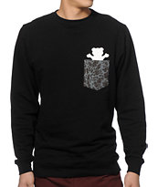 Grizzly Springfield Camo Pocket Crew Neck Sweatshirt
