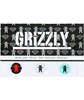Grizzly iPhone Button Stickers