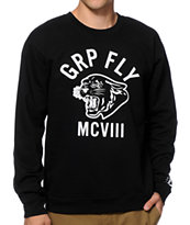 Group Fly OK Flying Cats Crew Neck Sweatshirt