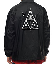 HUF 420 Plantlife Black Coaches Jacket