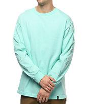 HUF 420 Triple Triangle Long Sleeve Mint T-Shirt