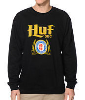 HUF Authentic Black Crew Neck Sweatshirt