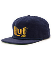 HUF Authentic Navy Cord Strapback Hat