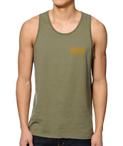 HUF Authentic Olive Tank Top
