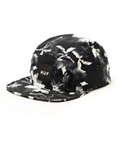 HUF Black Floral 5 Panel Hat