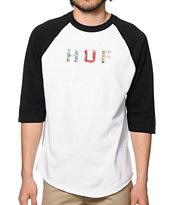 HUF Blossom OG Logo Baseball T-Shirt