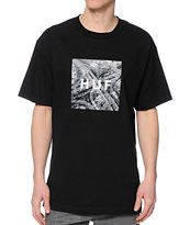 HUF Box Logo Freeway Black Tee Shirt