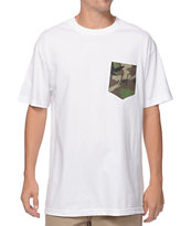 HUF Camo Script White Pocket T-Shirt