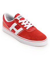 HUF Choice Red & White Suede Skate Shoe