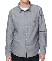 HUF Classic Chambray Black Button Up Shirt