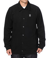 HUF Classic H Black Fleece Coach Jacket