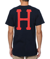 HUF Classic H Navy Pocket Tee Shirt