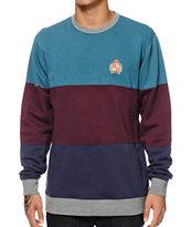 HUF Crested Block Crew Neck Sweatshirt