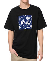 HUF Drunk Aloha Black & Navy Tee Shirt