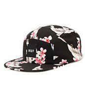HUF Endless Summer Box Logo Black 5 Panel Hat