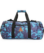 HUF Floral Navy Duffle Bag