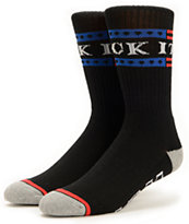 HUF Fuck It Black Crew Socks