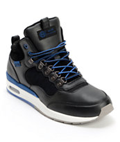 HUF HR-1 Runner Black & Royal Blue Shoe
