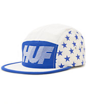 HUF Hell Track White & Blue 5 Panel Hat