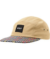 HUF Hex Diamond Print Khaki 5 Panel Hat