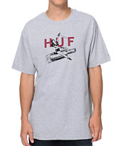 HUF Joyride Heather Grey Tee Shirt