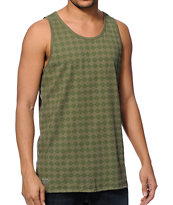 HUF Luxe Olive Tank Top