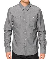 HUF Monogram Long Sleeve Button Up Shirt