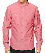 HUF Monogram Long Sleeve Button Up Shirt