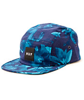HUF Navy Floral 5 Panel Hat