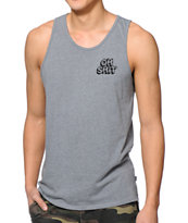 HUF Oh Shit Heather Grey Tank Top