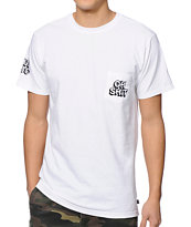 HUF Oh Shit Navy Pocket Tee Shirt