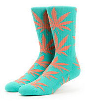 HUF Plantlife Aqua & Orange Crew Socks
