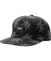 HUF Plantlife Black & Grey Snapback Hat