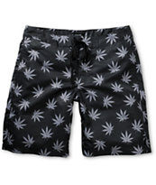 HUF Plantlife Black 19 Board Shorts