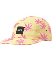 HUF Plantlife Box Logo Maize & Pink 5 Panel Hat