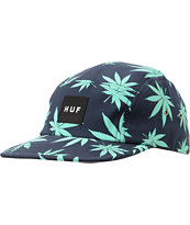 HUF Plantlife Box Logo Navy & Mint 5 Panel Hat