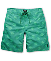 HUF Plantlife Green 19 Board Shorts