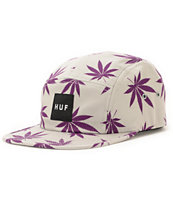 HUF Plantlife Grey & Purple 5 Panel Hat