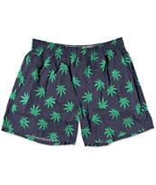 HUF Plantlife Navy & Green Boxer Shorts