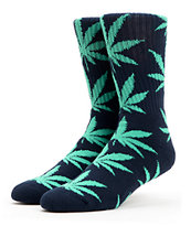 HUF Plantlife Navy & Mint Crew Socks